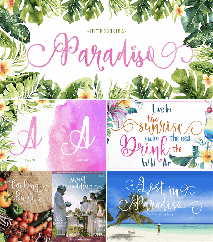 Paradiso Vintage Demo font by Fontsgood
