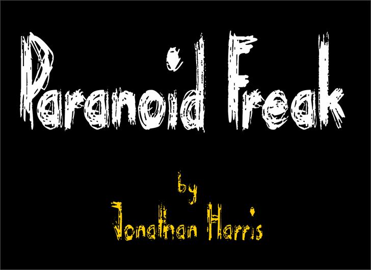 Paranoid Freak Font design graphic