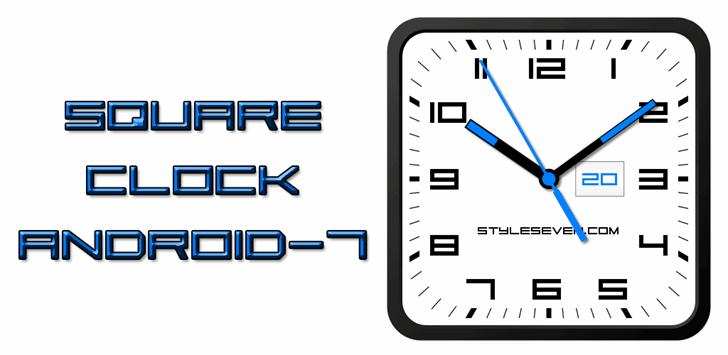 Square Sans Serif 7 Font screenshot design