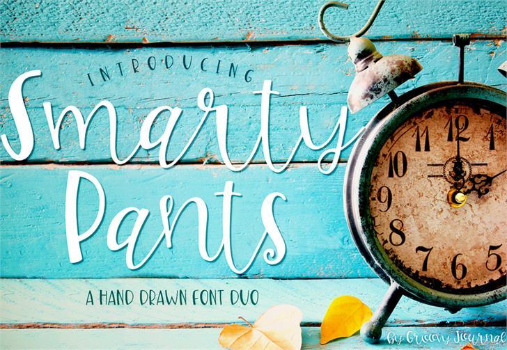 Smarty Pants-ip Font handwriting cartoon