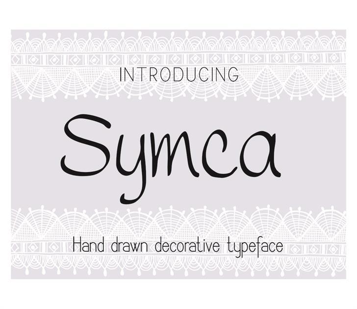 Symca Font design handwriting