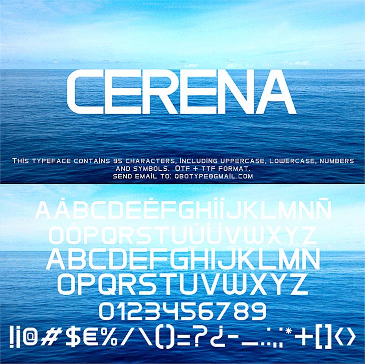 Cerena Font water design