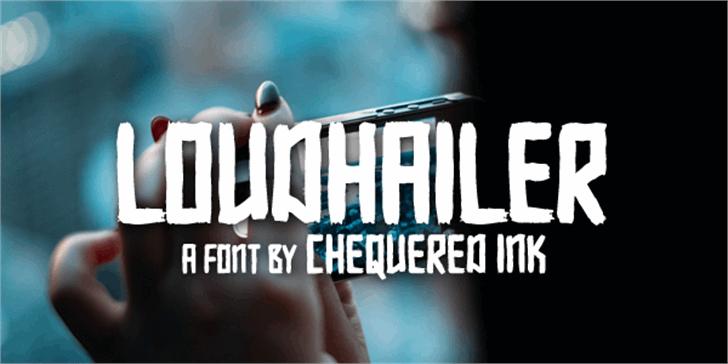Loudhailer Font screenshot text