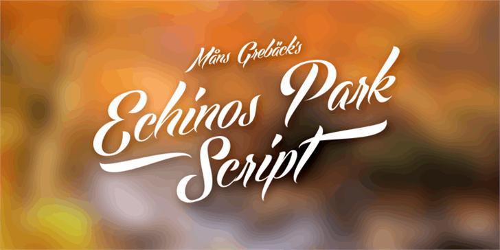Echinos Park Script PERSONAL US Font design text