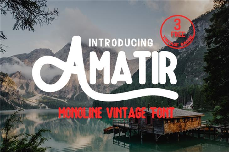 Amatir Font tree text