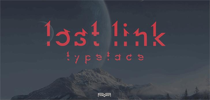 Lost Link Font screenshot mountain