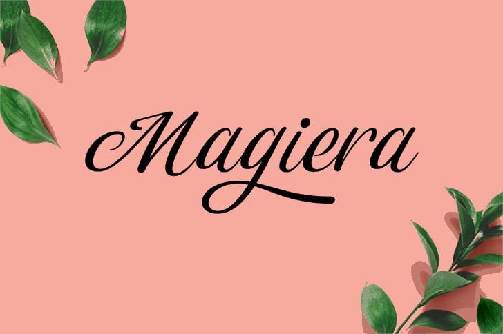 Magiera Script Font text