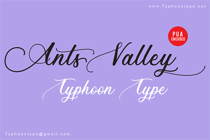 Ants Valley - Personal Use Font poster
