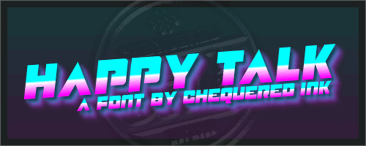 Happy Talk Font screenshot geometry