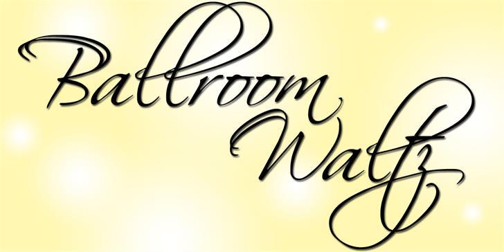BallroomWaltz Font design handwriting