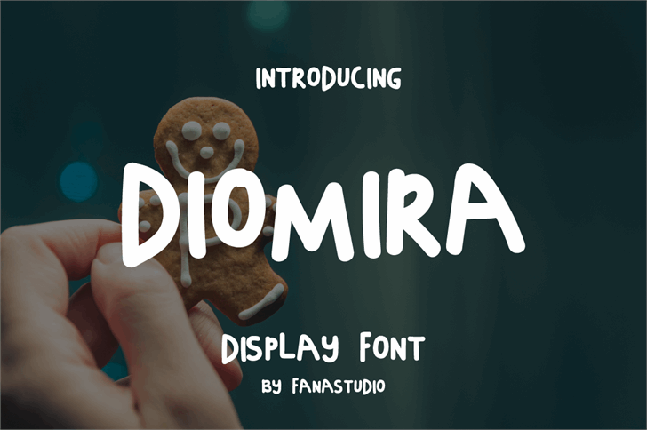 DIOMIRA Font person screenshot
