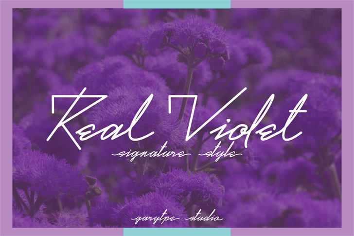 Real Violet Demo Font text flower