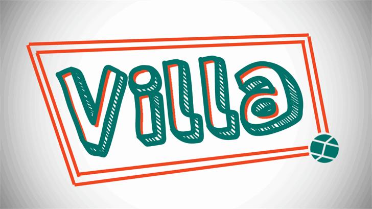 Villa Font design typography