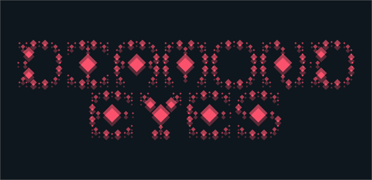 Diamond Eyes Font screenshot pattern