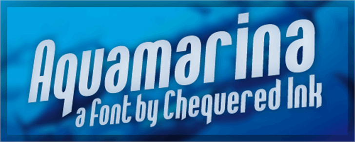 Aquamarina Font screenshot electric blue