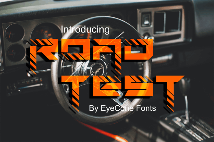 Roadtest Font screenshot poster
