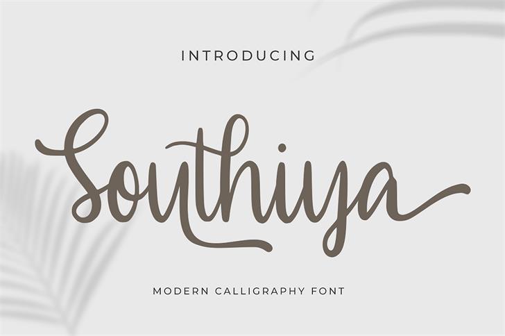 Southiya Font poster