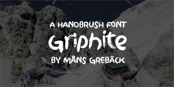 Griphite Drop PERSONAL USE Font design handwriting