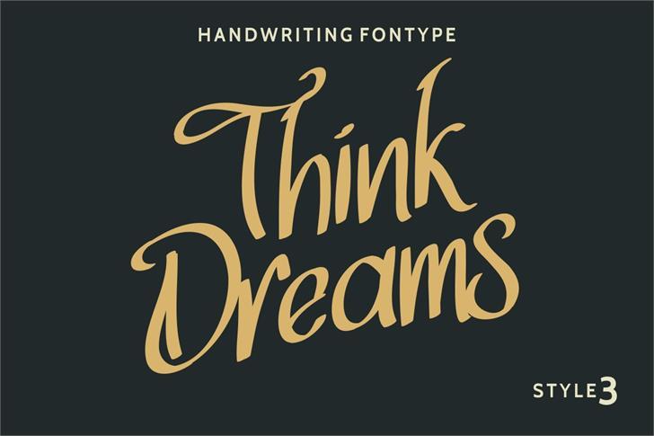 Think Dreams Font handwriting
