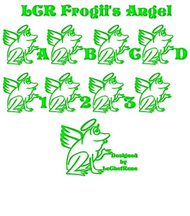 LCR Frogii's Angel Font drawing cartoon