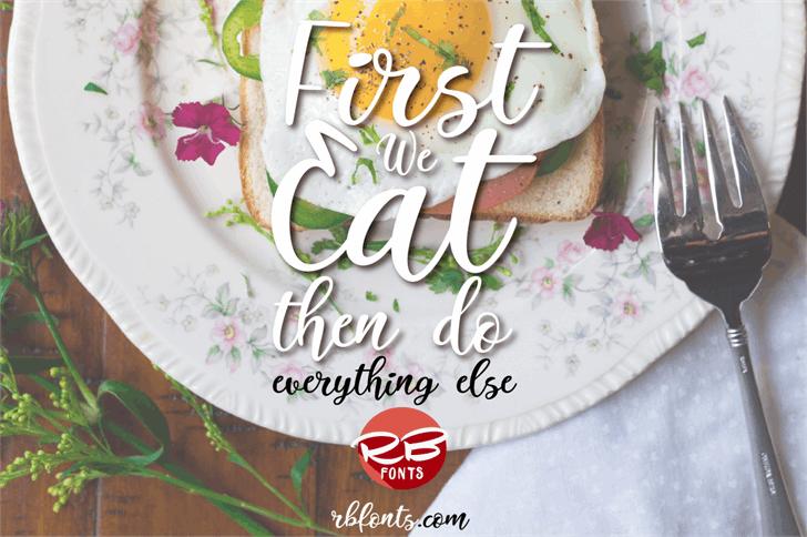 Italian Breakfast Font plate design
