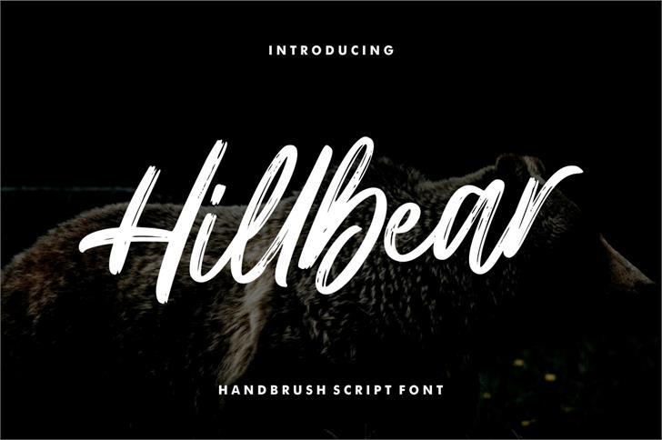 Hillbear Font poster