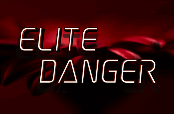 Elite Danger Font design text