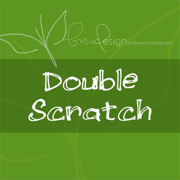 Double Scratch Font design screenshot