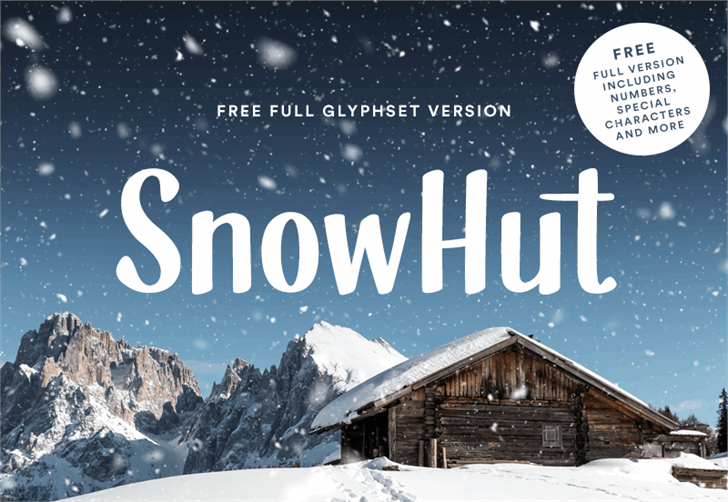 SnowHut Font poster