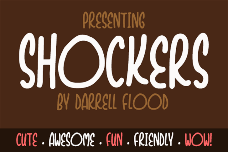 Shockers font by Darrell Flood