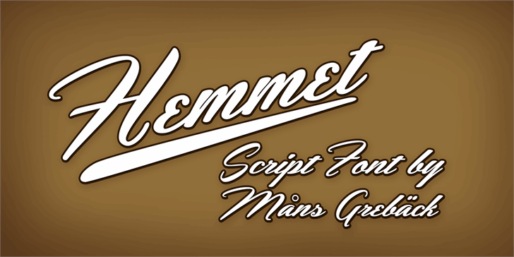 Hemmet Personal Use Only Font design typography