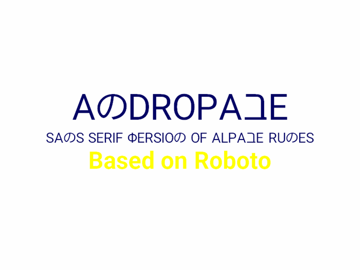 Andropabe Font poster