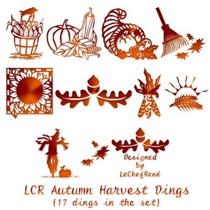 LCR Autumn Harvest Dings Font cartoon design