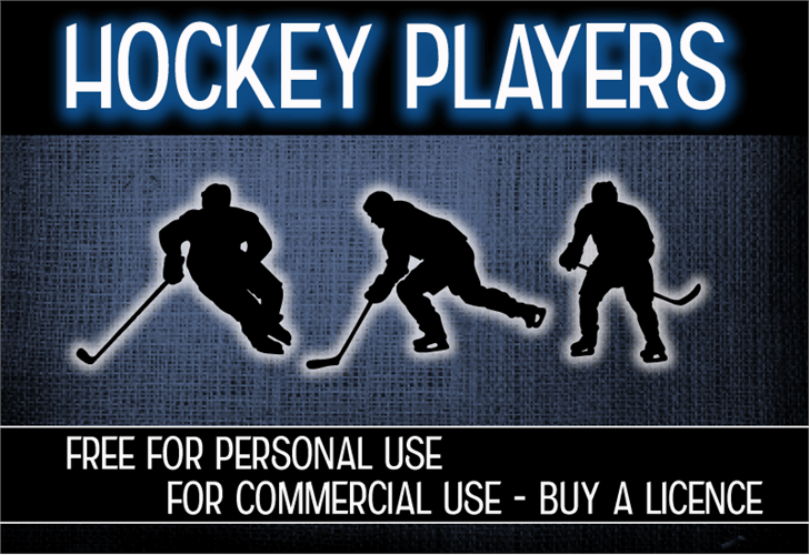 CF Hockey Players Font text poster