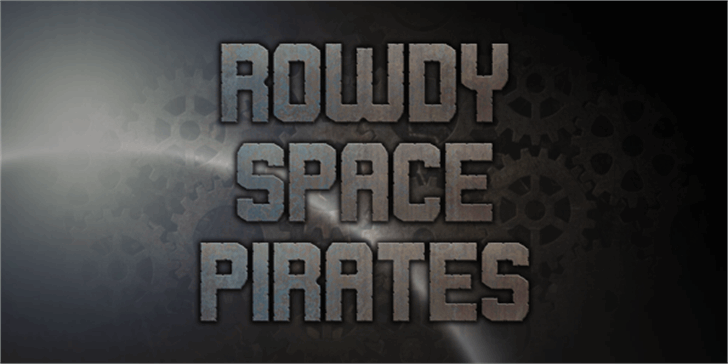 Rowdy Space Pirates Font poster font