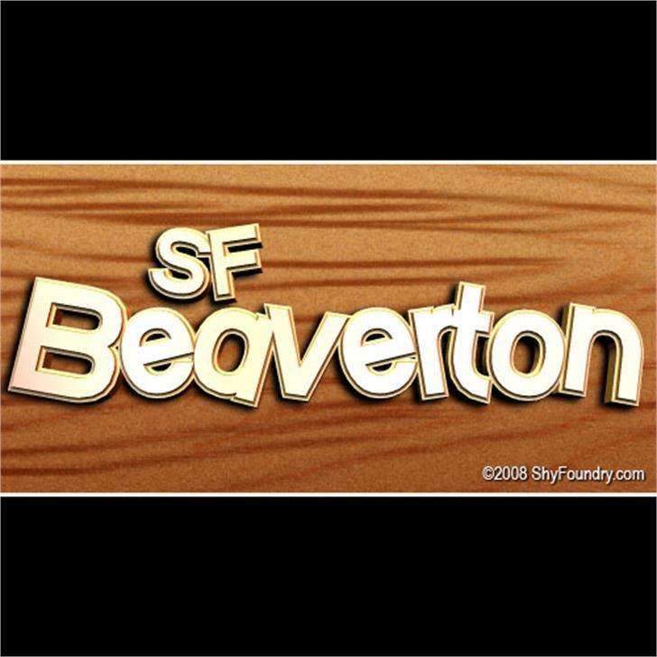 SF Beaverton Font screenshot design