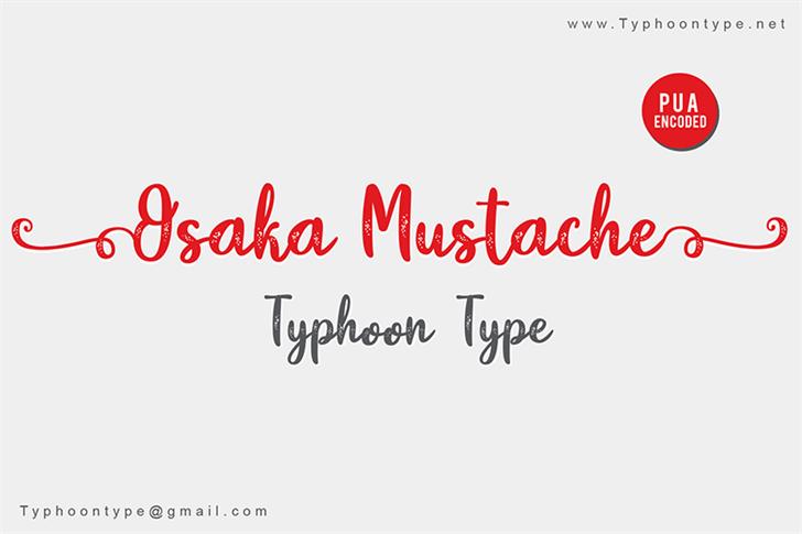 Osaka Mustache - Personal Use Font handwriting