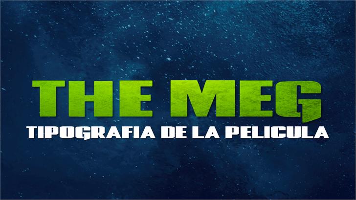 The Meg Font screenshot poster