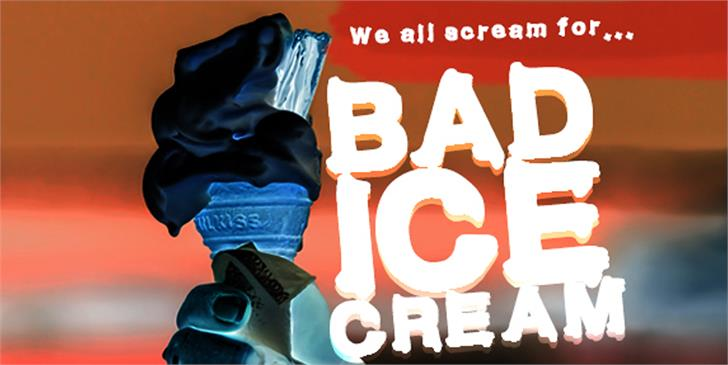 Bad Ice Cream Demo Font poster design