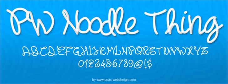 PWNoodleThing Font text design