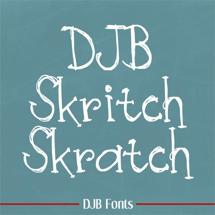 DJB Skritch Skratch Font blackboard handwriting