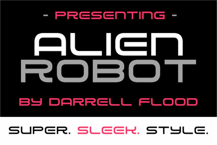 Alien Robot Font screenshot poster