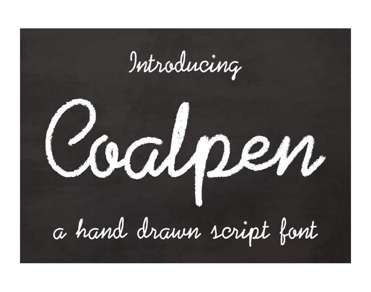 Coalpen Font handwriting text
