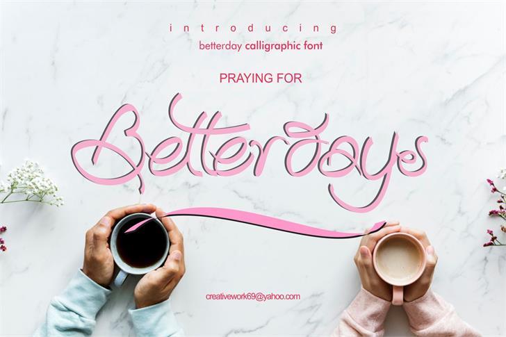 Betterday Demo Font handwriting design