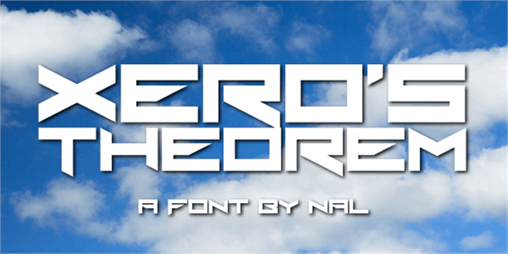 Xero's Theorem font by Chequered Ink