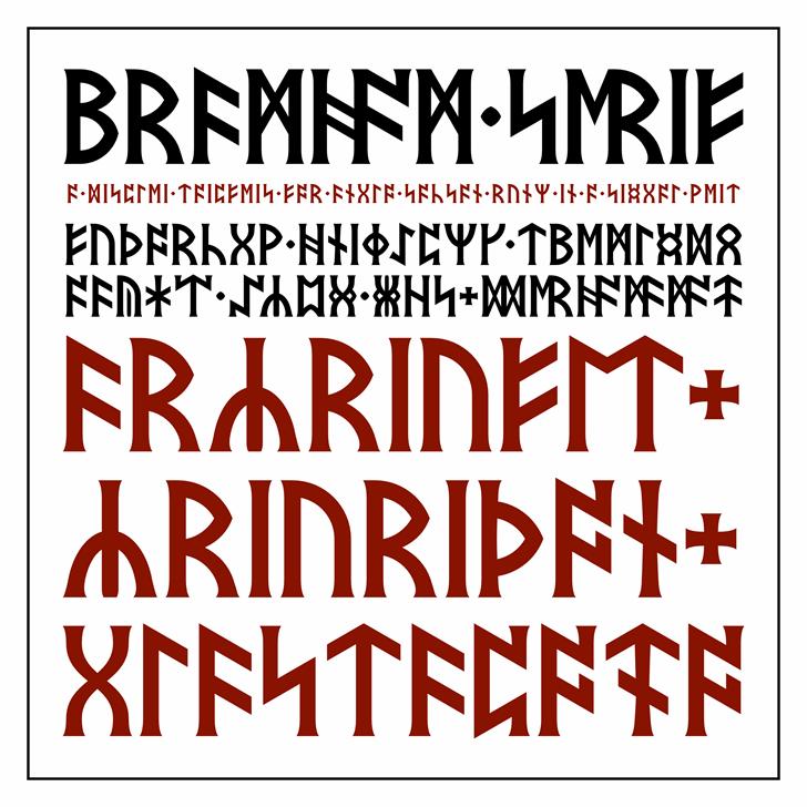 Bramham Serif Font text design