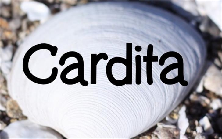 Cardita Font ground design