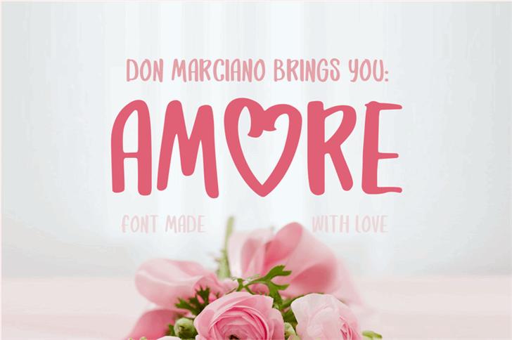 Amore Font flower rose