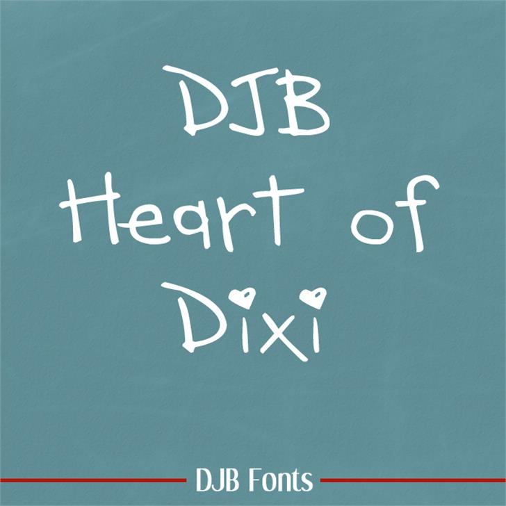DJB HEART OF DIXI Font blackboard handwriting
