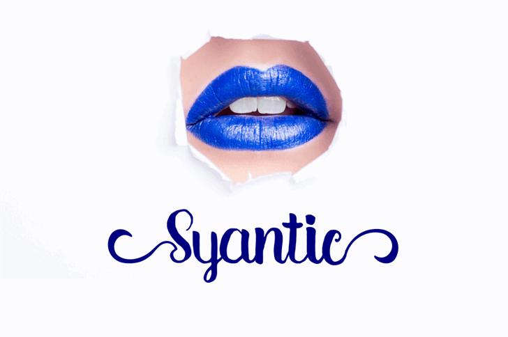 Syantic font by Syukur Setiyadi